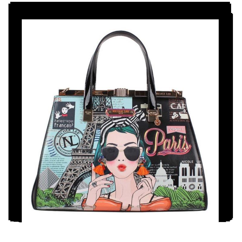 Bolsa Nicole Lee Xoxo From Paris Satchel Bag (indisponível)