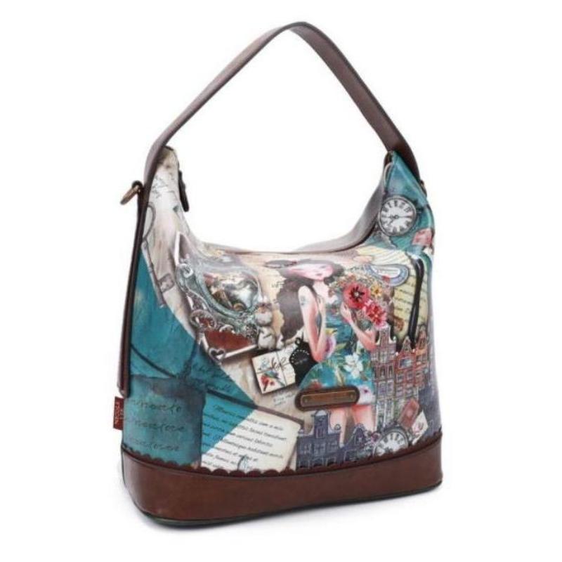 Bolsa Nicole Lee Emily Travels Europe Hobo Bag